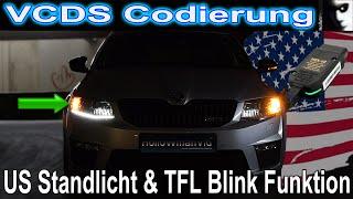 US Standlicht TFL Blink Funktion | VCDS Codierung Carporn | Skoda Octavia RS