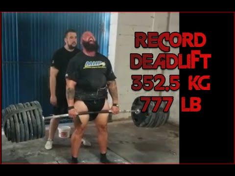 CARLOS DEMATTEY 352.5KG (777,2LB) DEADLIFT RECORD
