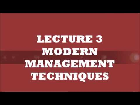 Modern Management Techniques LEC 3 | Engineering Management