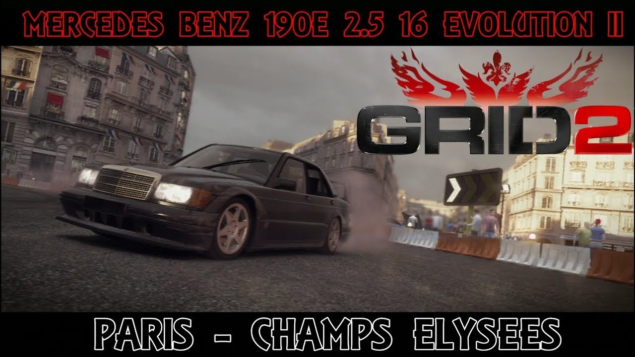 grid 2 mercedes benz 190e 2 5 16 evolution ii paris champs elysees youtube. Black Bedroom Furniture Sets. Home Design Ideas