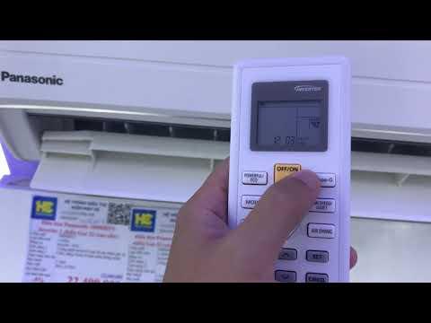 Hướng dẫn sử dụng điều khiển điều hòa Panasonic năm 2020 (dòng PU)