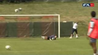 Fabrice Muamba knocks down Jason Steele | 2011 UEFA U21 European Championship thumbnail