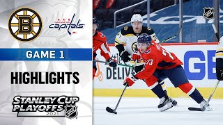 First Round, Gm1:  Bruins @ Capitals 5/15/21 | NHL Highlights