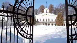 Усадьба зимой с борта гексакоптера с камерой Canon 5D MarkII(Фрагменты съемок для телевизионного фильма