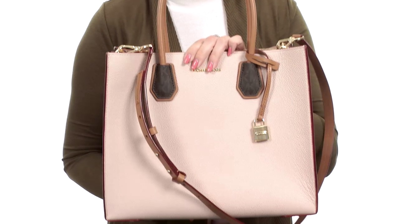 8e05c092fd17 MICHAEL Michael Kors Mercer Large Convertable Tote SKU:8954684 - YouTube