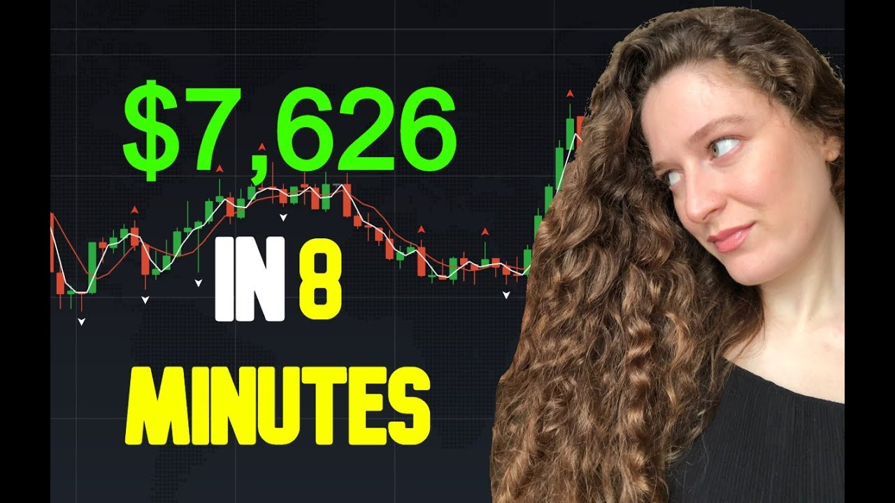 $7626 in 8 minutes | Binary Options Trading Strategy