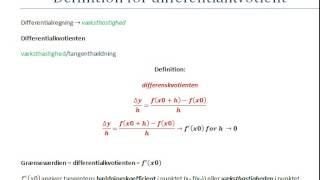 præsentation af differentialkvotient
