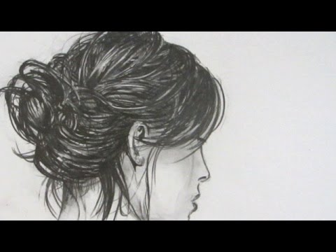 How to draw realistic hair narrated step by step