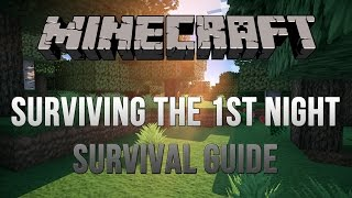 Minecraft - Survival Guide- Part 1:First Night, Shelter [PS4]