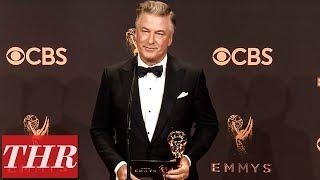 'SNL' Alec Baldwin Post Emmy Win Press Room Q&A | THR