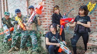 LTT Nerf War : SQUAD SEAL X Warriors Nerf Guns Fight Attack Criminals Group Rescue Best Friend