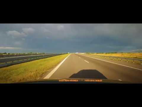 Autobahn A4. Poland - Ukraine Border. Time-lapse 10x speed