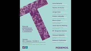 Ruta de presentación de candidatos y candidatas (Toledo).