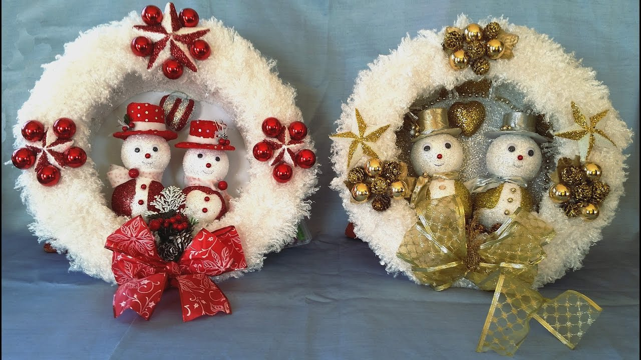 Fantastic christmas wreath easy to make doovi Simple christmas wreaths