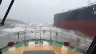 Pilot boat bad weather