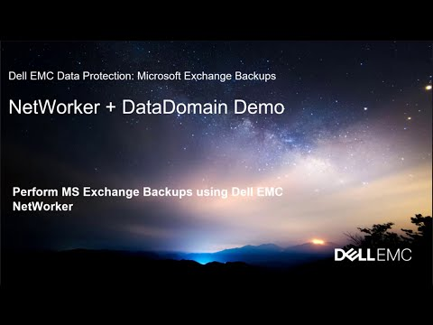 Exchange Backups Using Dell EMC Data Protection Suite