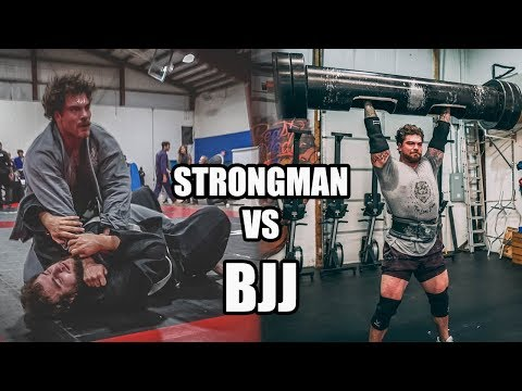 250lb Strongman Champion Tries Brazilian Jiu Jitsu (what Could Go Wrong?)