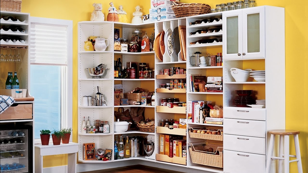 Charming White Corner Pantry Organizing Kitchen   YouTube