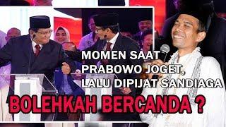 Momen Saat Prabowo Joget, Lalu Dipijat Sandiaga, Begini Penjelasan UAS Tentang Bercanda