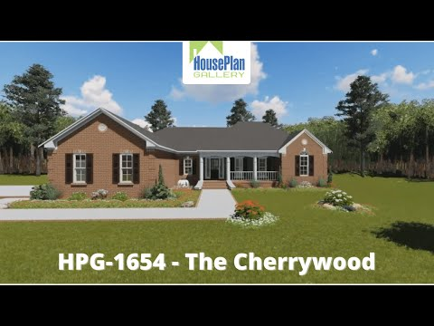 HPG-1654-1 1,654 SF, 3 Bed, 2 Bath Ranch House Plan by House Plan Gallery