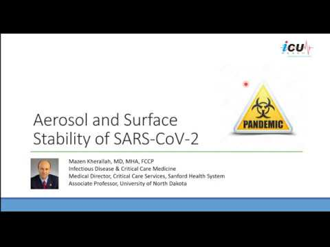 Aerosol and Surface Stability of SARS CoV 2 compared to SARS CoV 1