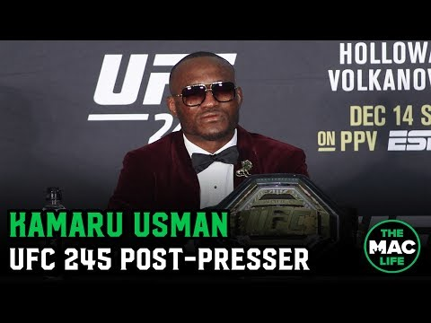 "Kamaru Usman describes Colby Covington fight as ""Mano-a-mano"" 