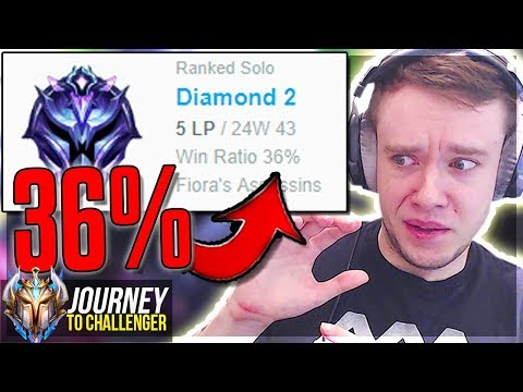 WTF? HOW IS THIS EVEN POSSIBLE??? D2 36% WR - Journey To Challenger  LoL