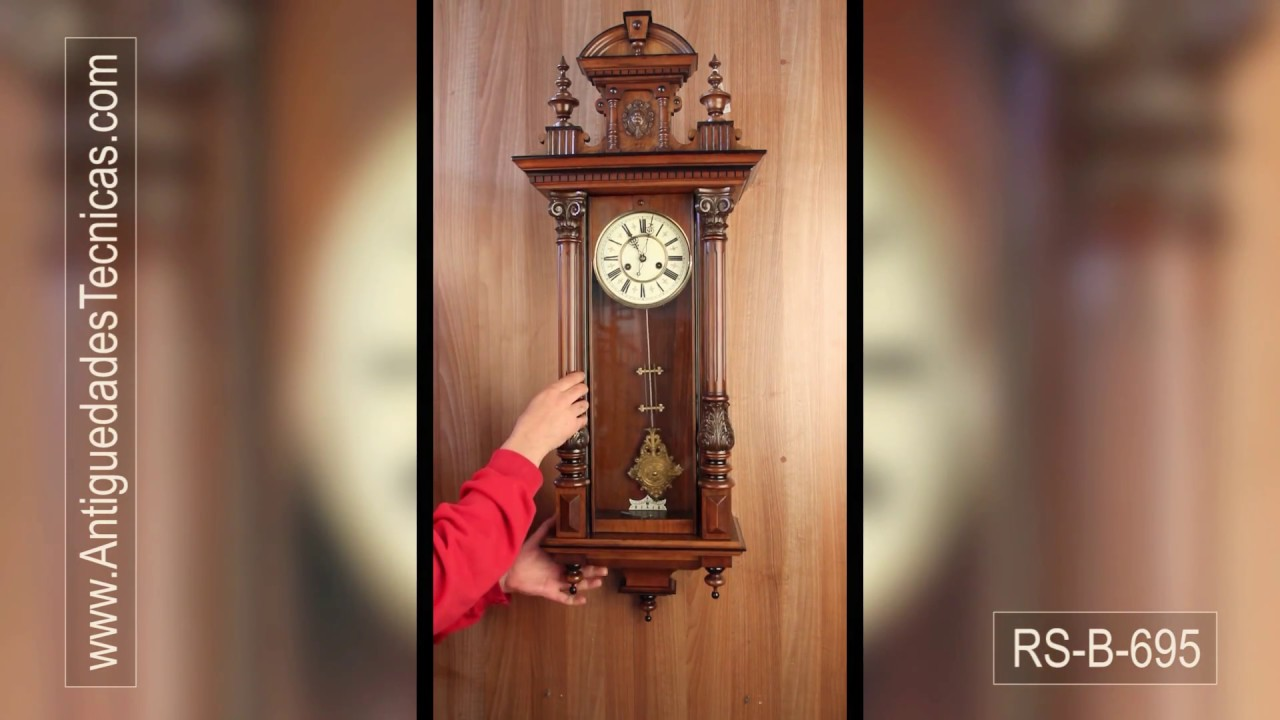 Antique hac wall clock germany circa 1900 youtube antique hac wall clock germany circa 1900 amipublicfo Choice Image