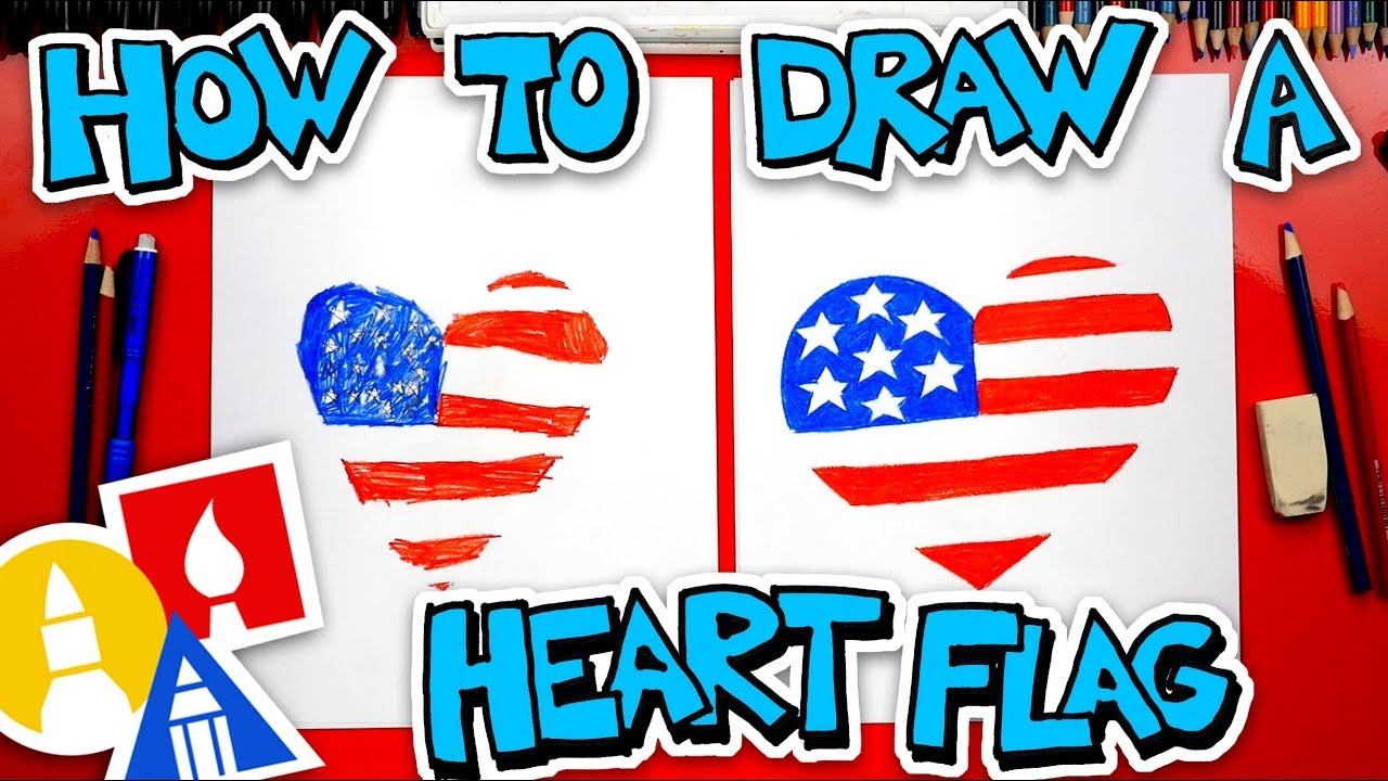How To Draw A Heart Flag