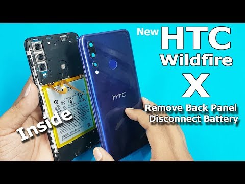 How to Open HTC Wildfire X Back Panel and Disconnect Battery