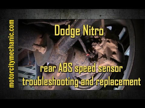Dodge Nitro rear ABS speed sensor troubleshooting and removal
