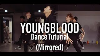 Koosung Jung (1Million Dance studios) - YoungBlood (5 Seconds of Summer) dance tutorial [Mirrored]