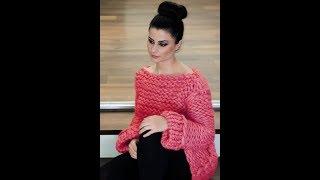 Женский Свитер Спицами - Крупная Вязка - 2019 / Women's Sweater Knitting Knitting