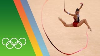 Training for Rio 2016 with Rhythmic Gymnast Melitina Staniouta [BLR]