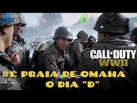 """CALL OF DUTY: WORLD WAR II - GAMEPLAY #1: PRAIA DE OMAHA, O DIA """"D"""" (DUBLADO E LEGENDADO PT-BR)"""