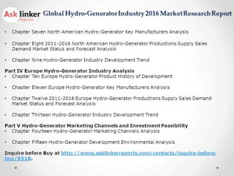 Hydro-Generator Market Analysis and Forecasts New Research Report 2016