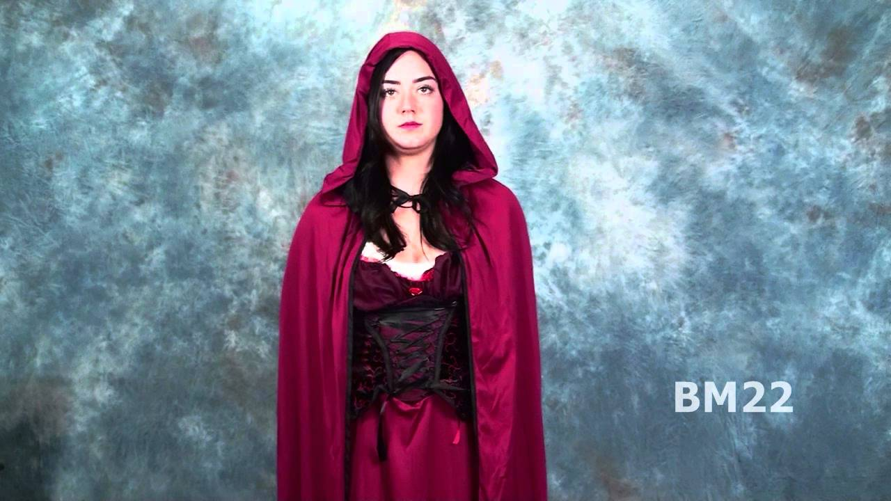 sc 1 st  YouTube & Dark Red Riding Hood Halloween Costume Review - YouTube