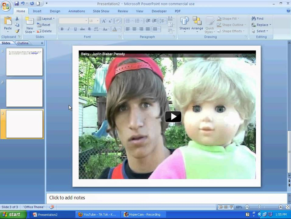 How to make powerpoint presentation to video