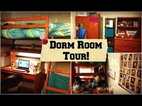 College Dorm Room Tour at Marquette University! (Cobeen Hall) | Tewschool