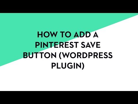 2017 How to Add a Pin It Save Button When You Hover Over Images WordPress Plugin