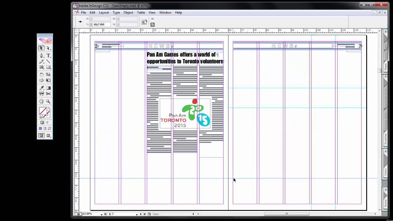 using adobe indesign cs2 lesson 4 layout guidelines columns youtube rh youtube com Adobe InDesign Resume Adobe InDesign Resume
