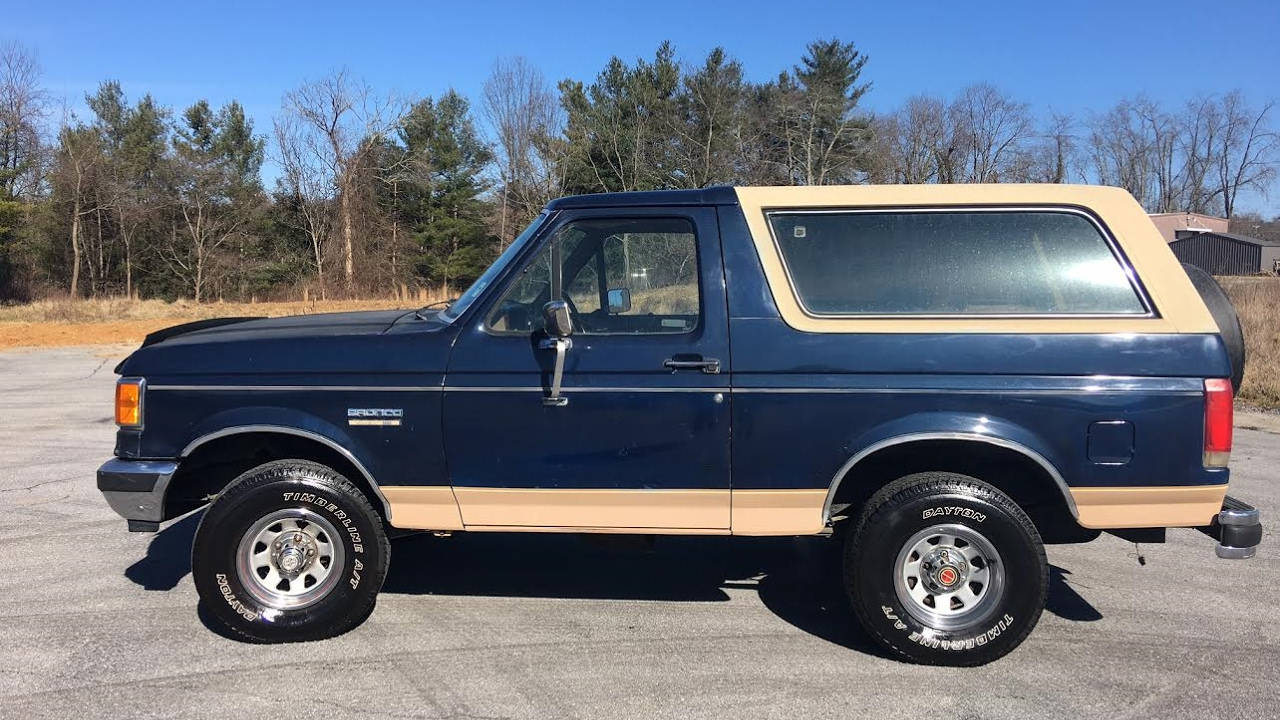 1989 ford bronco eddie bauer 4wd 5 0 automatic walk around tour engine start up