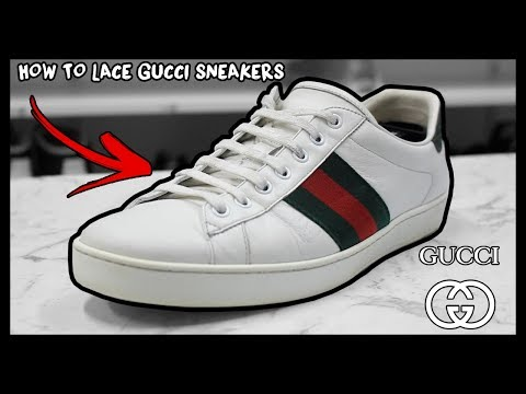 e30b88ca2 HOW TO FACTORY LACE GUCCI ACE SNEAKERS THE RIGHT WAY! - YouTube