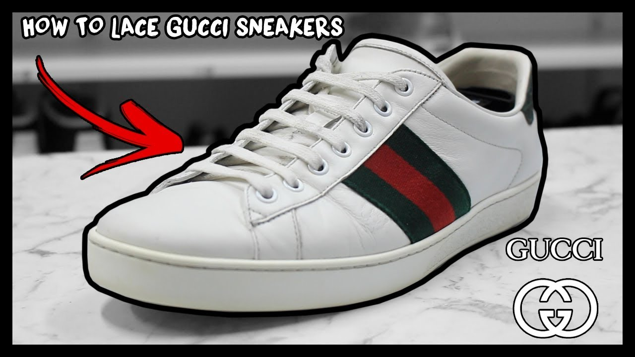 a0e9d0b4952 HOW TO FACTORY LACE GUCCI ACE SNEAKERS THE RIGHT WAY! - YouTube