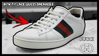 HOW TO FACTORY LACE GUCCI ACE SNEAKERS