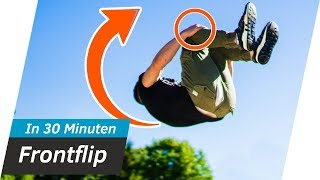 Vorwärtssalto LERNEN in 30 MINUTEN - Frontflip Tutorial | Andiletics
