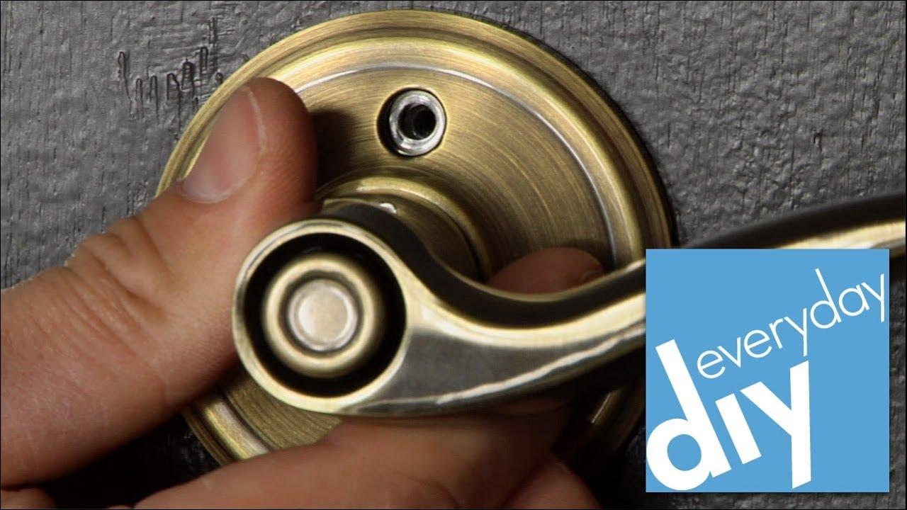 How to Replace Door Hardware -- Buildipedia DIY - YouTube