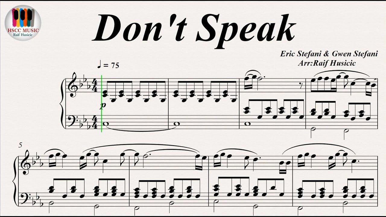 Don't Speak   No Doubt, Piano