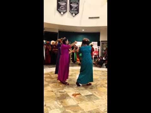 Turkmen dance by american high school students.