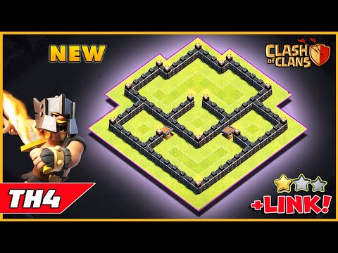 Clash of Clans Town Hall 4 BEST Base Layout 2018